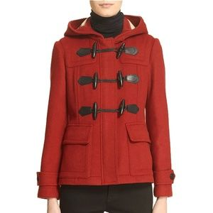 Burberry Blackwell Short Wool Duffle Coat